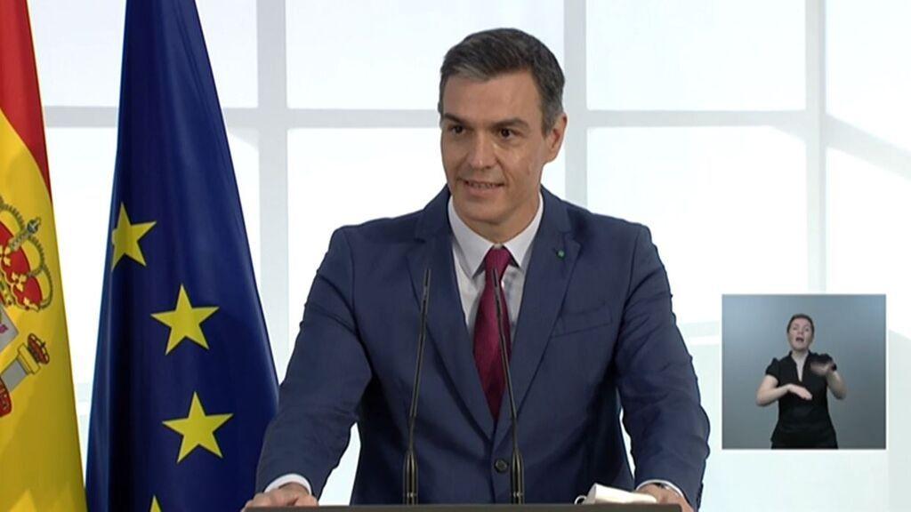 Pedro Sánchez prevé iniciar la vacunación contra el coronavirus de los alumnos de ESO y Bachillerato dos semanas antes del curso