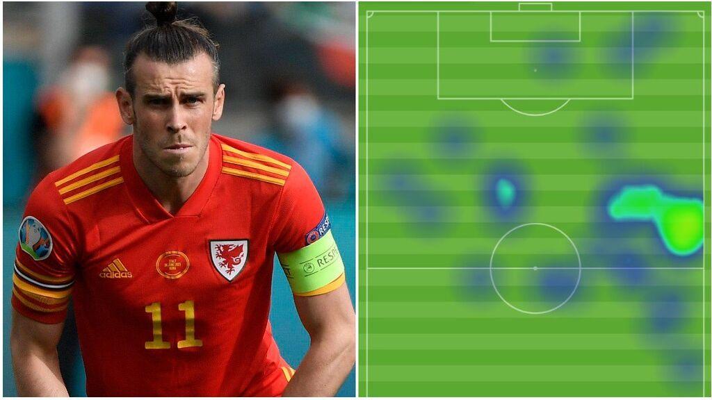 Bale monopoliza el ataque de Gales a pesar de que estuvo desaparecido: solo 13 pases en 90 minutos