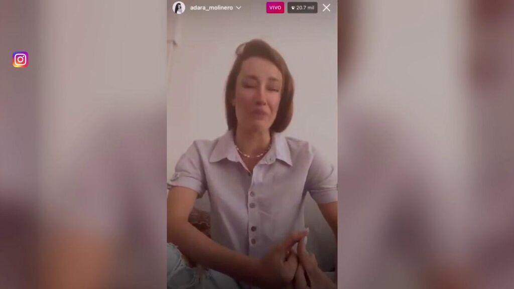 Adara Molinero llora tras su ruptura con Rodri