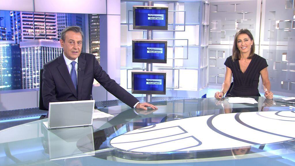Con José Ribargorda y Ángeles Blanco Informativos Telecinco 2021 Noche 20/06/2021