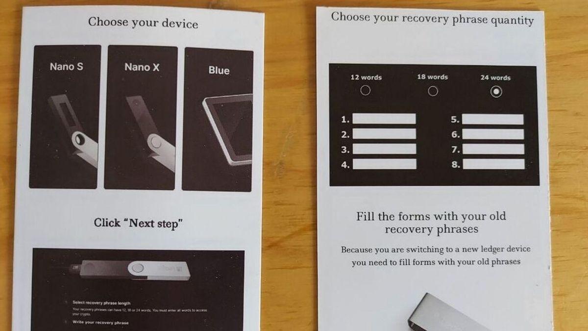 Una campaña para robar criptomonedas de  envía monederos físicos falsos a los usuarios