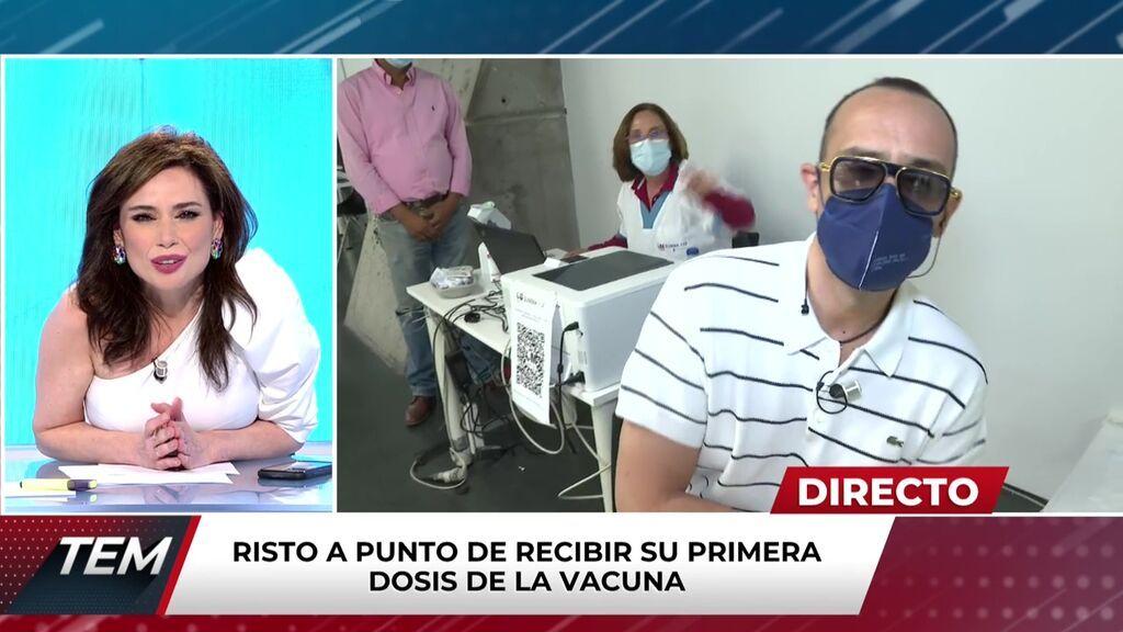 Risto se emociona vacunándose en directo Todo es mentira 2021 Programa 612