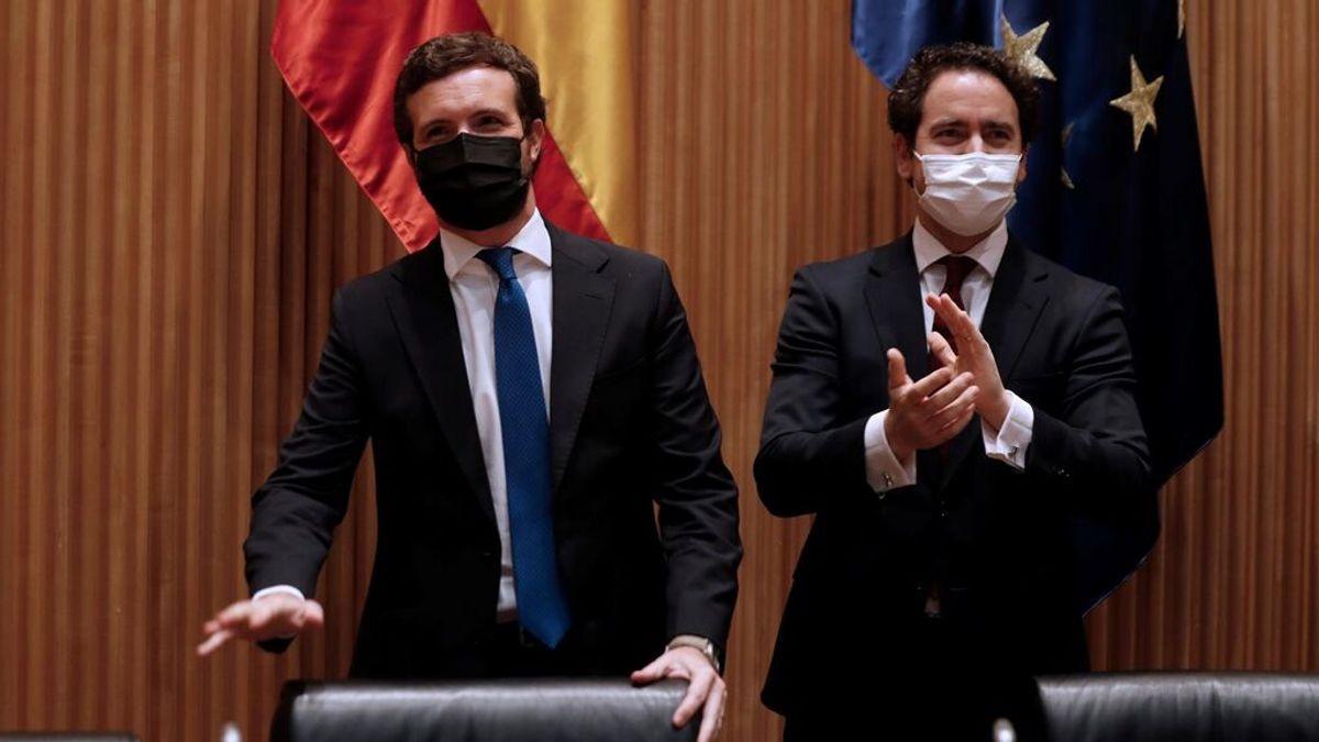 Pablo Casado reúne a su grupo parlamentario para contestar los indultos a los presos condenados del 'procés'