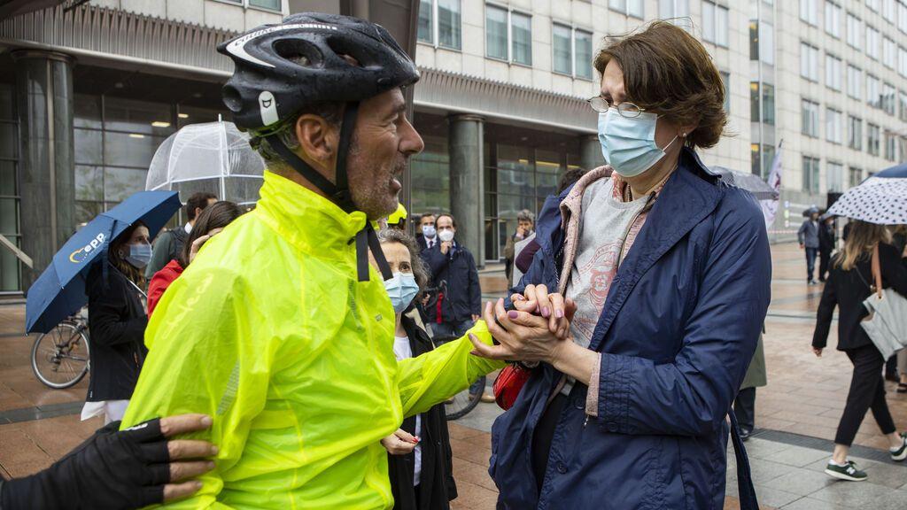 afita es recibido por Sandra Gallina, Directora de salud de la Comisión europea.