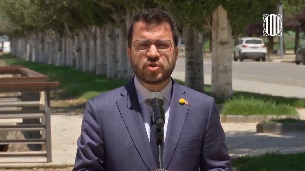 """Aragonès planta a Sánchez y le recuerda que los indultos """"no son la solución al conflicto"""""""