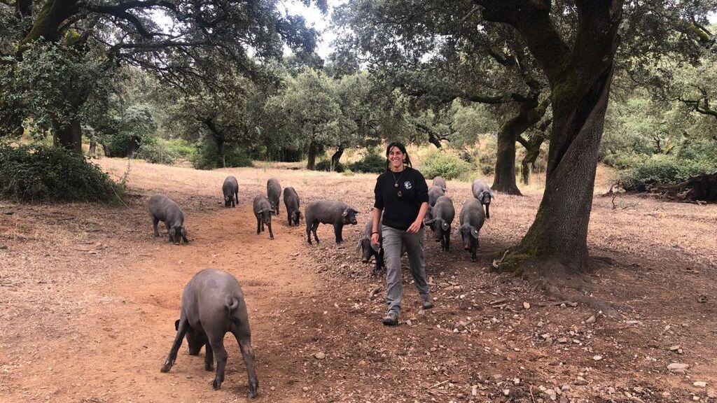 """'Apadrina a un cerdo', el invento de una ganadera de Jabugo frente a la crisis: """"Recomiendo que no le pongan nombre"""""""