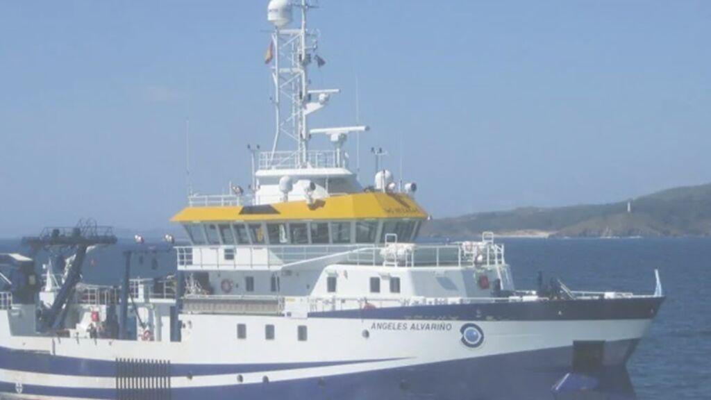El buque 'Ángeles Alvariño' se desplaza hacia el sur en busca del cuerpo de Tomás Gimeno