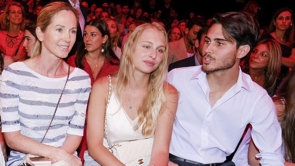Miranda Rijnsburger, mujer de Julio Iglesias, con uno de sus hijos, Rodrigo Iglesias