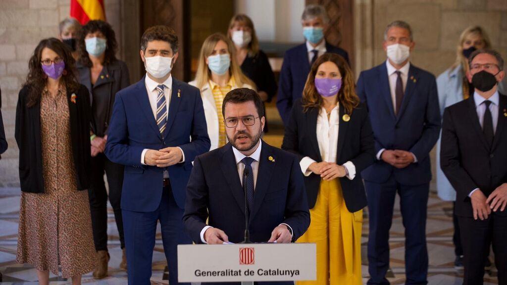 """Pere Aragonès señala que los presos políticos """"salen hoy con la cabeza alta y las ideas intactas"""""""