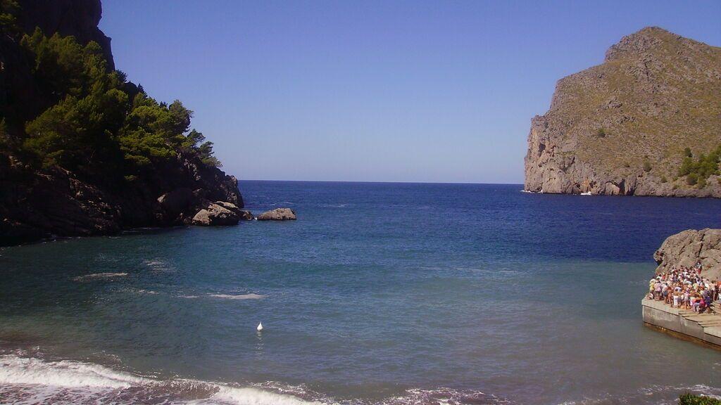 La cala de Sa Calobra se encuentra cerca de Escorca, en el norte de Mallorca.