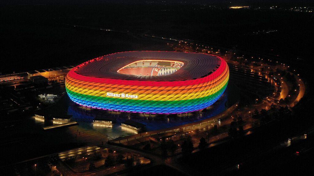 La UEFA provoca una fuerte reacción política al prohibir la bandera arco iris en el Allianz Arena de Múnich