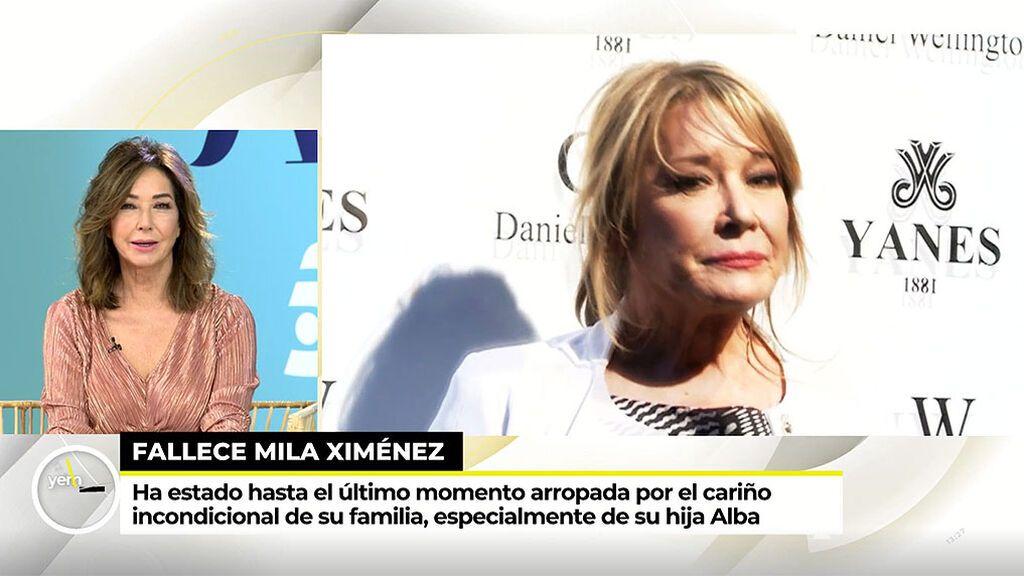 """Ana Rosa Quintana se despide de Mila Ximénez: """"Es de las mujeres que hacen historia"""""""