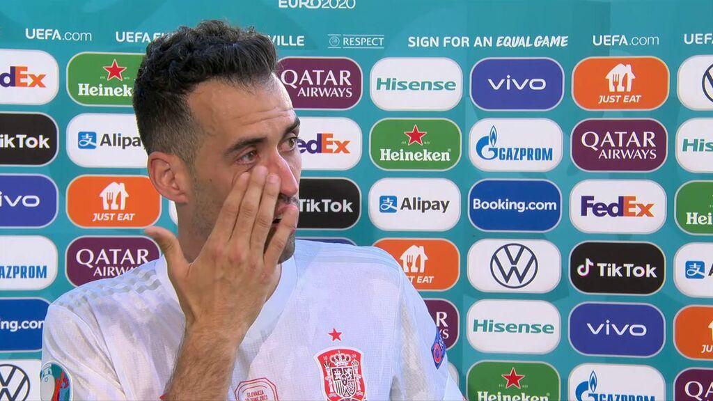 """La emoción de Sergio Busquets tras pasar a octavos: """"Lo he pasado bastante mal"""""""