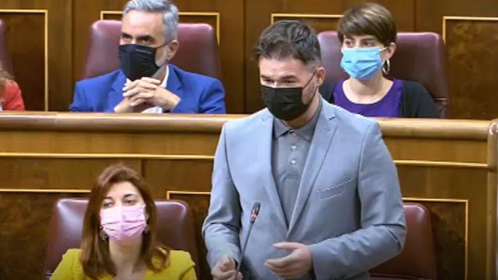Rufián desnuda a Sánchez y le pregunta si los indultos los da por necesidad política