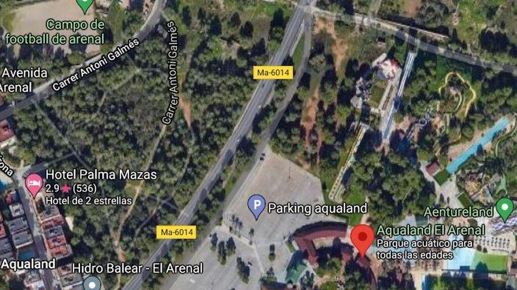 La explanada de El Arenal donde se reunían 4.000 jóvenes de botellón