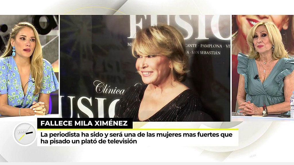 Rosa Benito y Alba Carrillo lloran la muerte de Mila Ximénez
