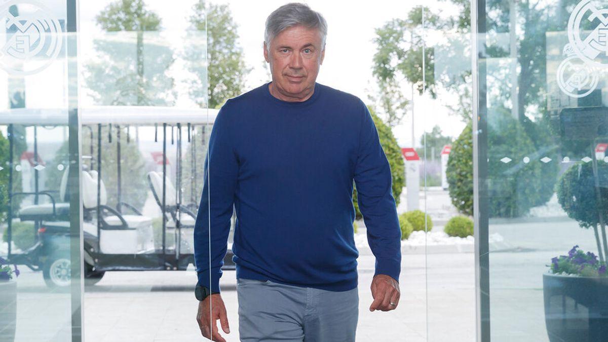 Ancelotti, en Valdebebas.
