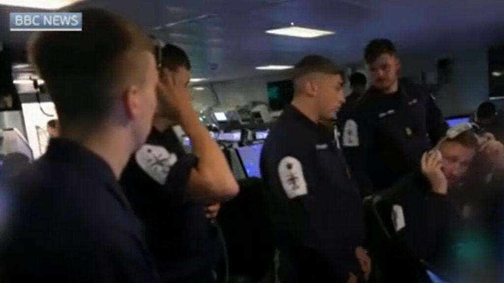Imágenes del incidente bélico entre Rusia y el Reino Unido en el Mar Negro