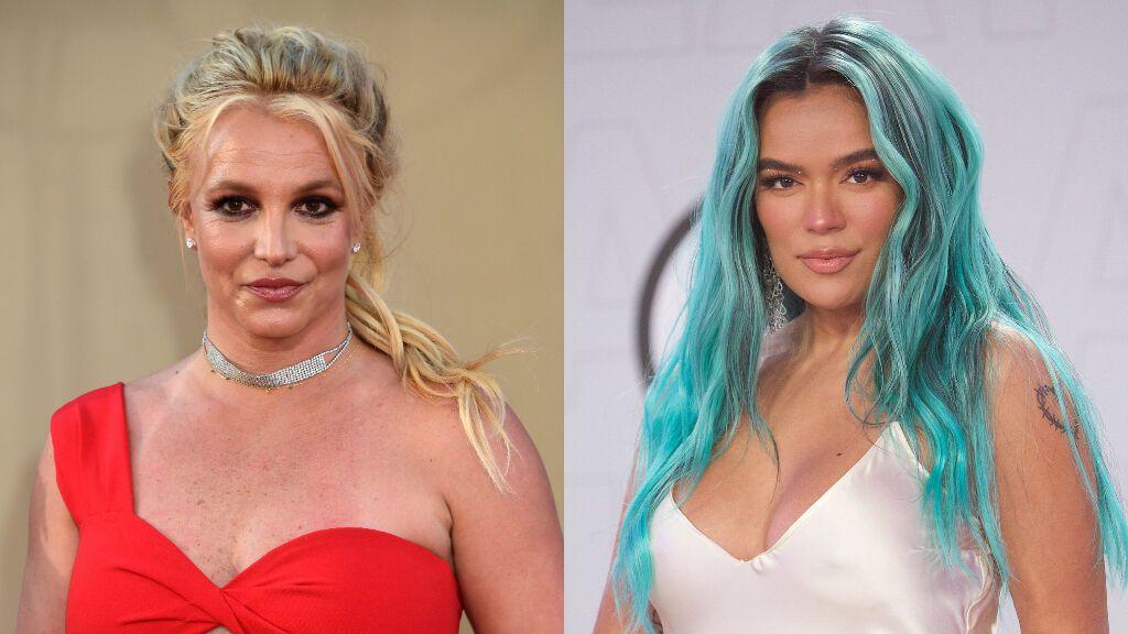 """Karol G muestra su apoyo a Britney Spears, pero los fans no creen que esté siendo sincera: """"La hipocresía"""""""