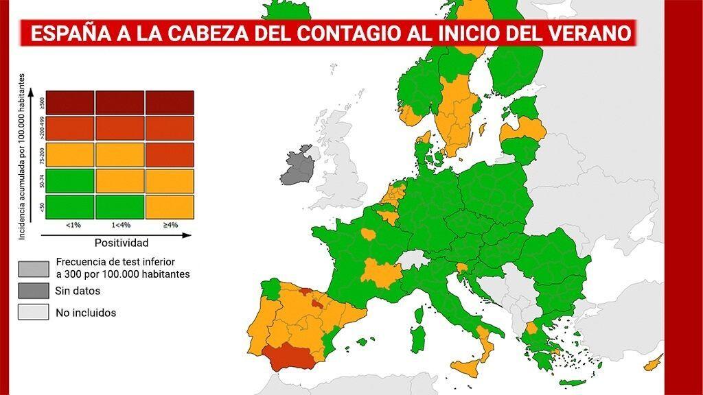 España a la cabeza de los contagios