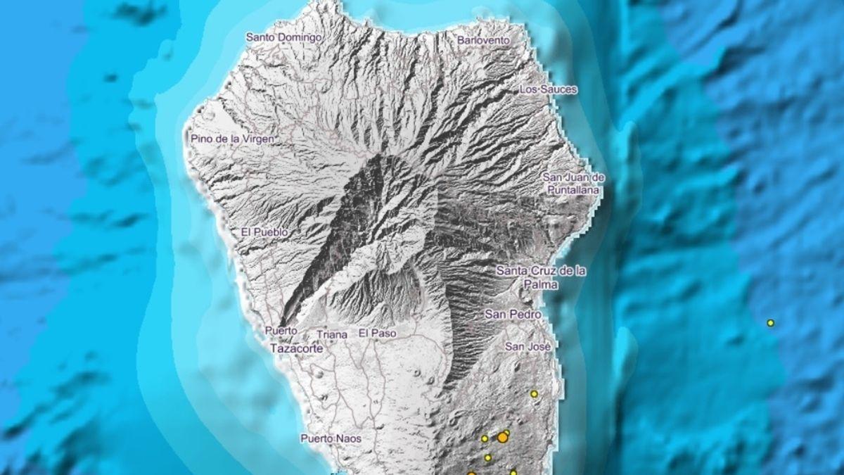 Detectada una serie de 80 pequeños terremotos en La Palma
