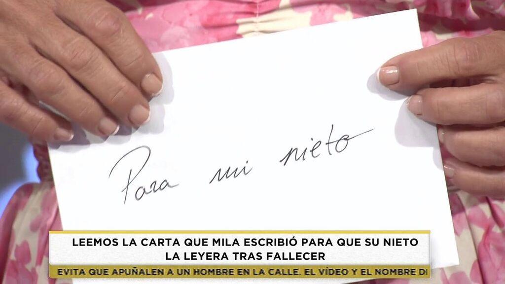 La carta de Mila Ximénez a su nieto