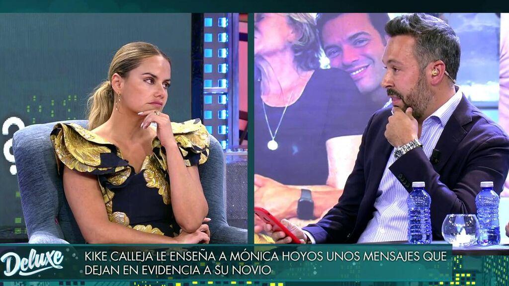Los mensajes del novio de Mónica Hoyos a Kike Calleja en directo