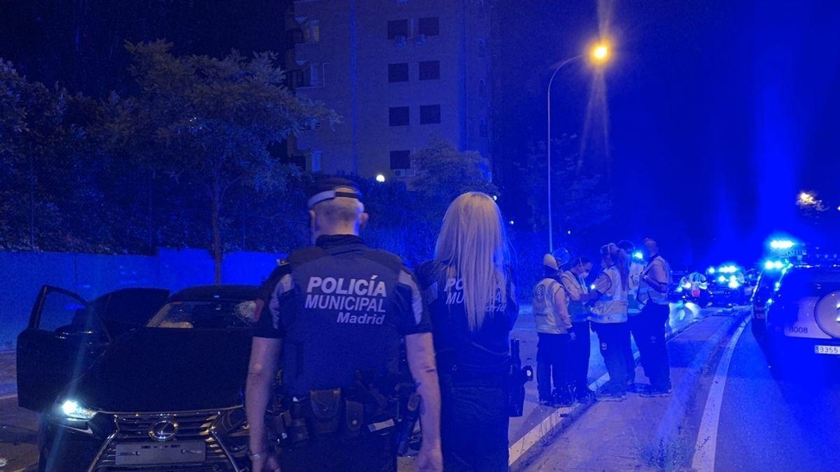 Fallece un motorista de 22 años en Madrid tras colisionar con un VTC