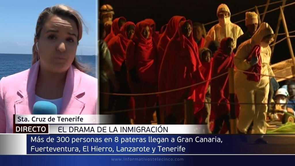 El drama de la inmigración: más de 300 personas llegan a las costas canarias