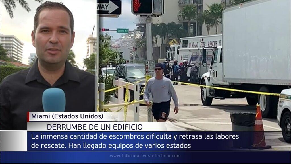Aumentan a 5 los fallecidos del derrumbe de un edificio residencial en Miami y aún hay 156 desaparecidos