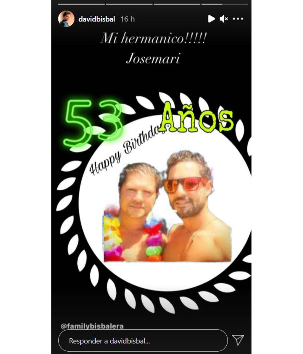 David Bisbal felicita a su hermano José María por su cumpleaños