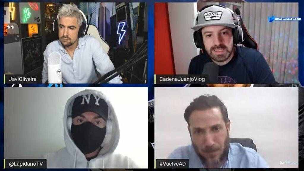 Antonio David, en su entrevista con Javi Oliveira, Juanjo Vlog y El Lapidario