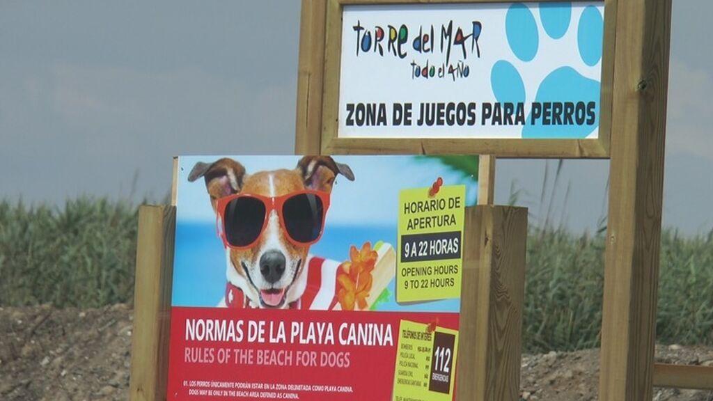 Playa para perros de Torre del Mar