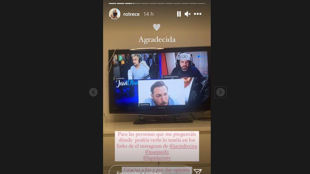 Mensaje de Rocío Flores a su padre, Antonio David, durante la entrevista