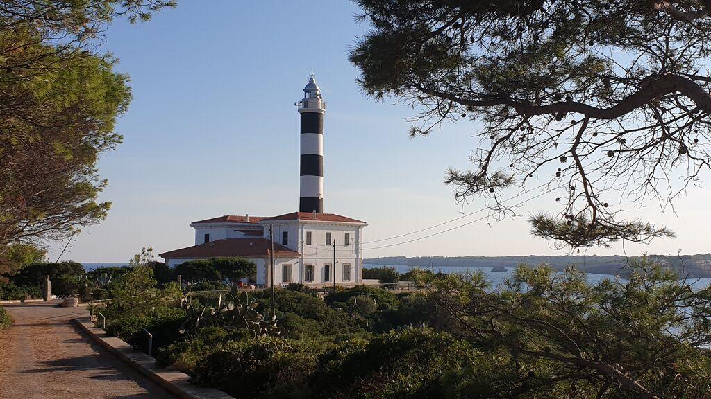 El faro de Porto Colom, en Mallorca.