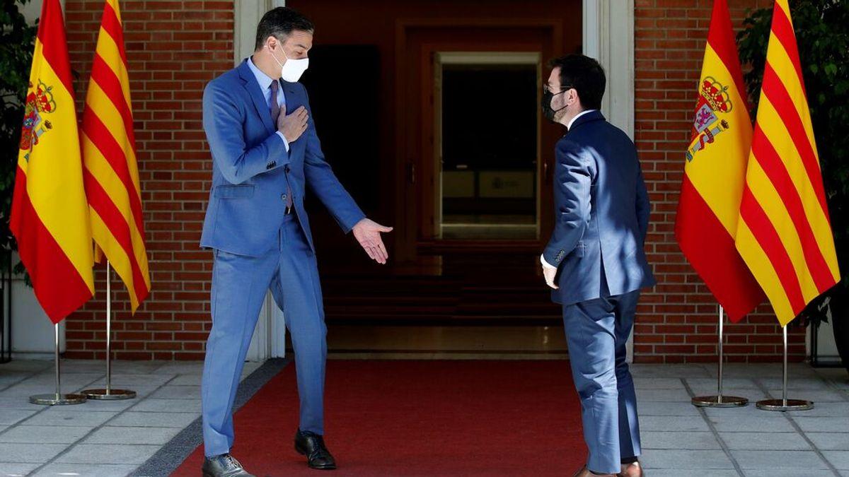 El Gobierno y la Generalitat miden fuerzas ante el cara a cara Sánchez-Aragonès