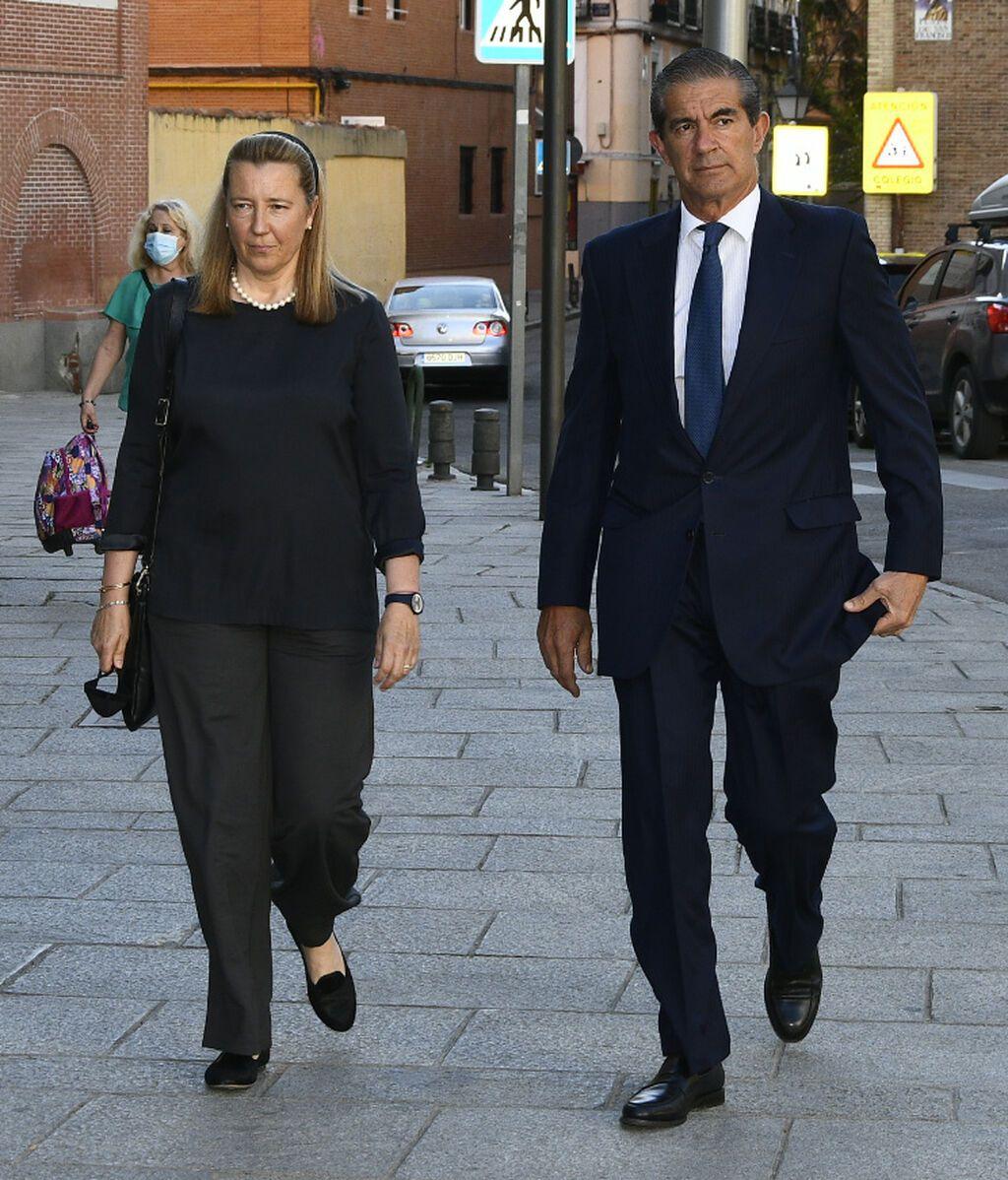 Cristina de Borbón Dos Sicilias y Pedro López-Quesada, también presentes en el homenaje