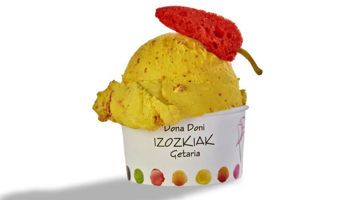 Helado de mango y pimiento de Ezpeleta