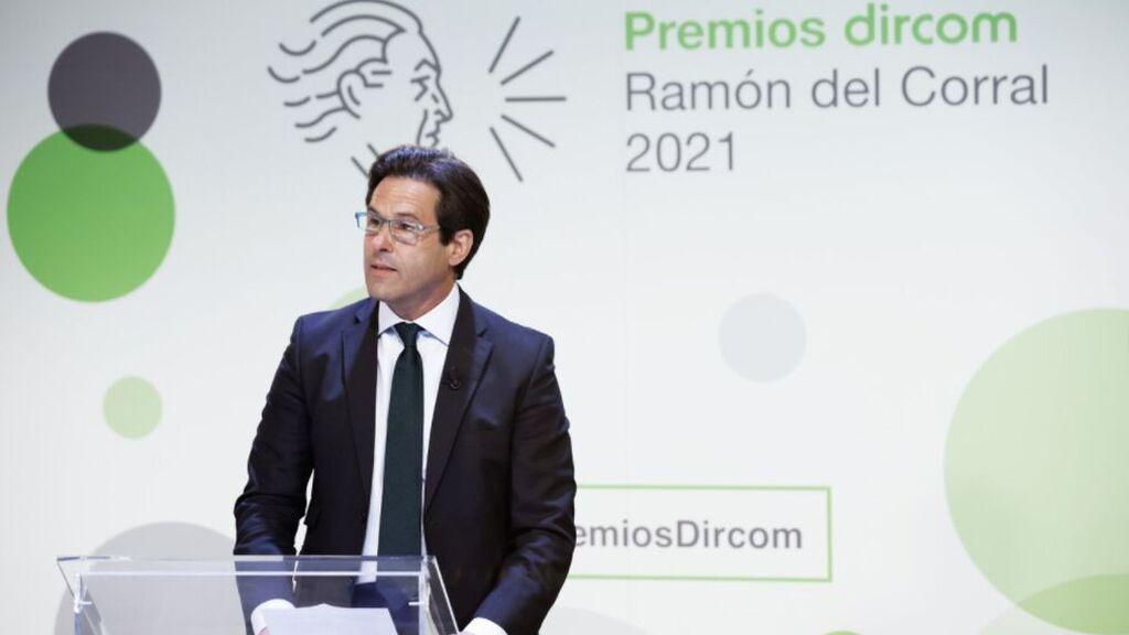 Mario Rodríguez, director general corporativo de Mediaset España, pone en valor el castellano en los premios Dircom