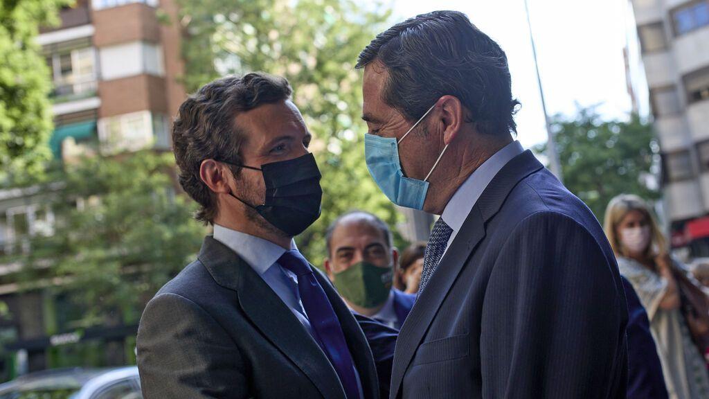 """Garamendi intenta hacer las paces , pero Casado le reprocha que se preste a la """"propaganda tóxica"""" del Gobierno"""