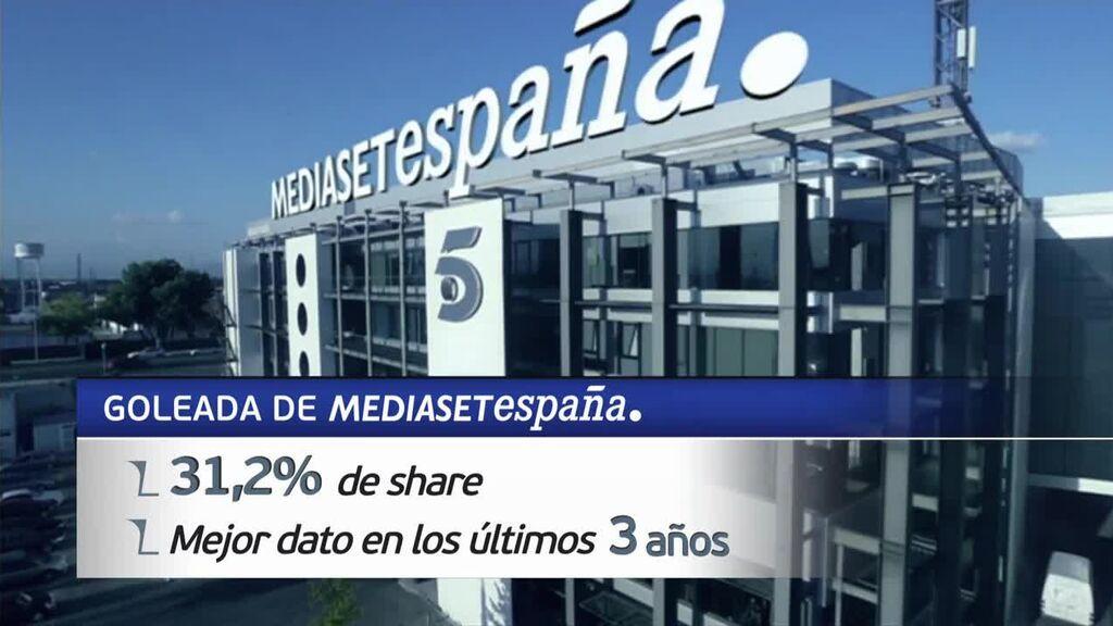 Telecinco, líder de audiencia en junio