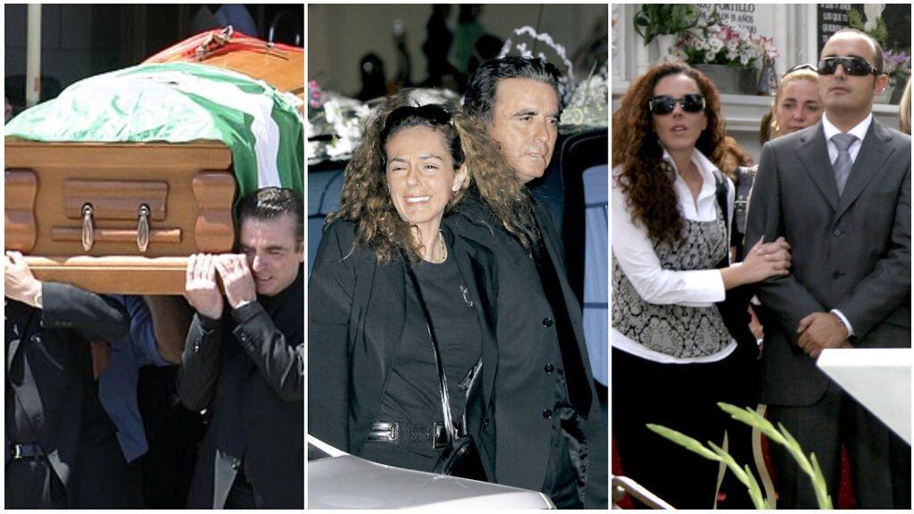 Del llanto de Rocío Carrasco y Ortega Cano al íntimo entierro en el cementerio de Chipiona: los momentos más inolvidables del funeral de Rocío Jurado.