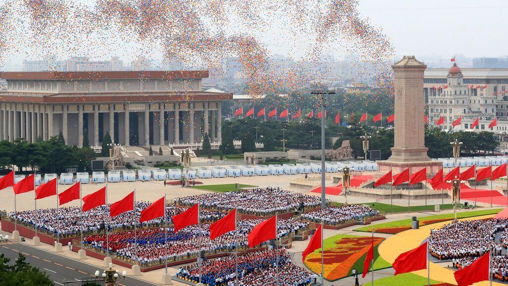 Una espectacular ceremonia de aniversario del Partido Comunista Chino