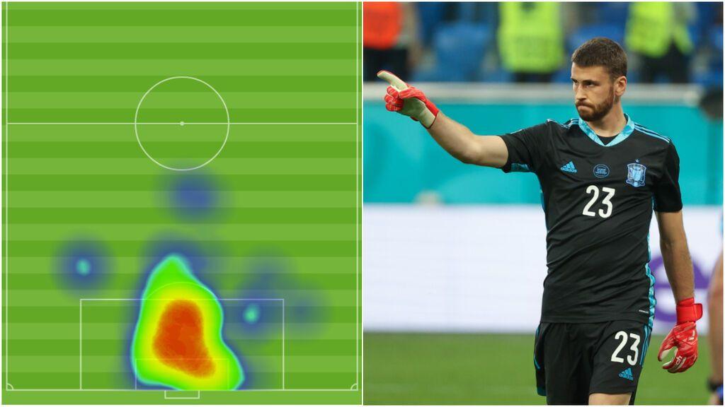 Unai Simón marcó el camino de España a las semifinales: seguro bajo palos y paradas decisivas en la tanda de penaltis
