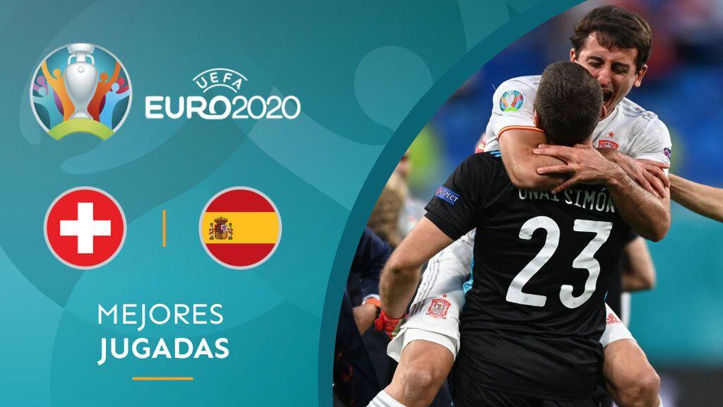 España elimina a Suiza en los penaltis tras un gris partido: Unai Simón y Oyarzabal, héroes