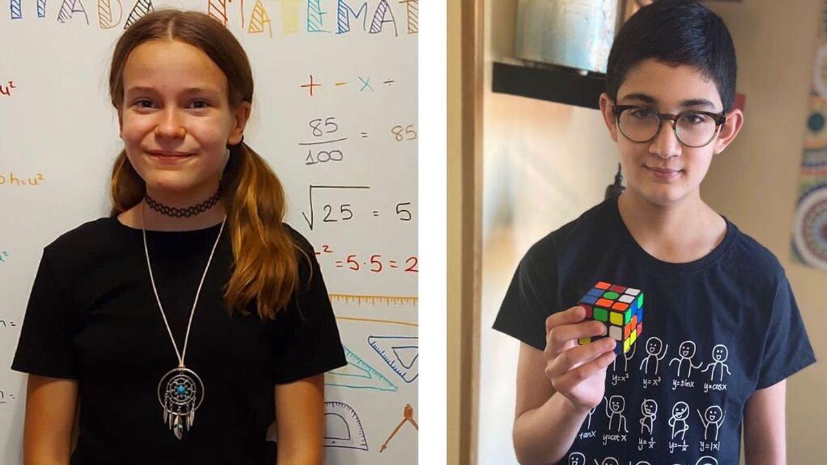 """Lucía y Mateo, ganadores de las Olimpiadas matemáticas: """"Son muy divertidas y útiles"""""""