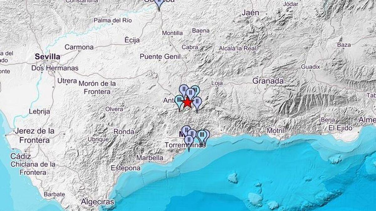Terremoto de magnitud 3,4 en Antequera: el temblor se ha sentido en varios municipios de Málaga