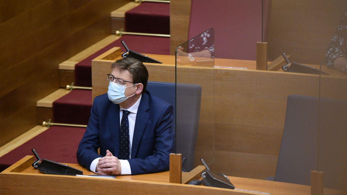 Puig da cuenta de la gestión del Consell, los compromisos políticos y la crisis en la última sesión de control del curso