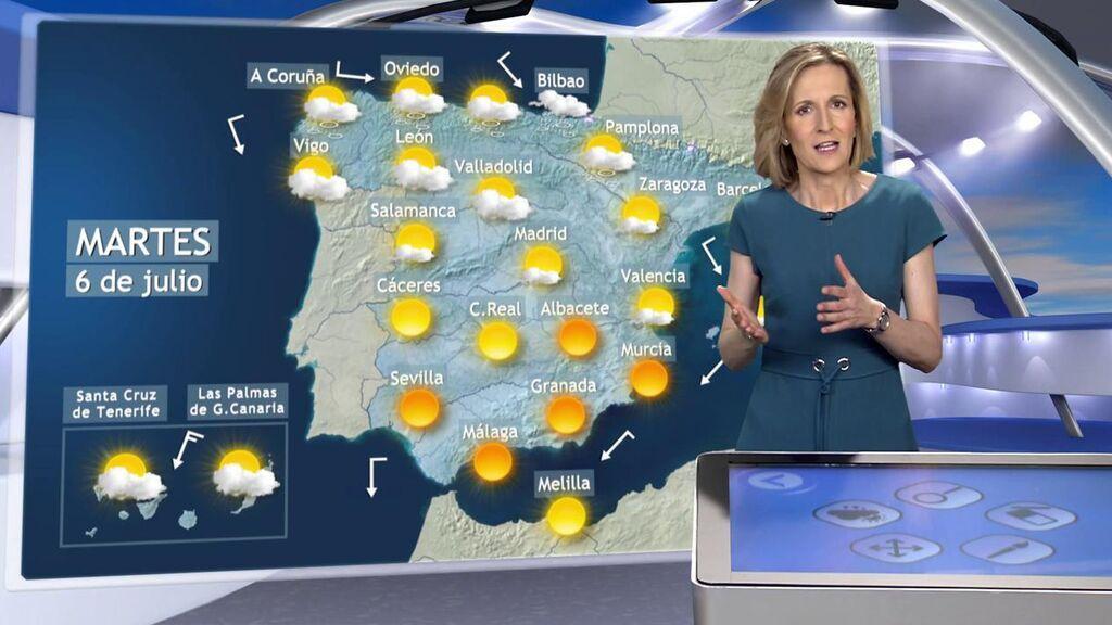 Bajón de hasta 12 grados por un frente frío: el tiempo que hará el martes en España