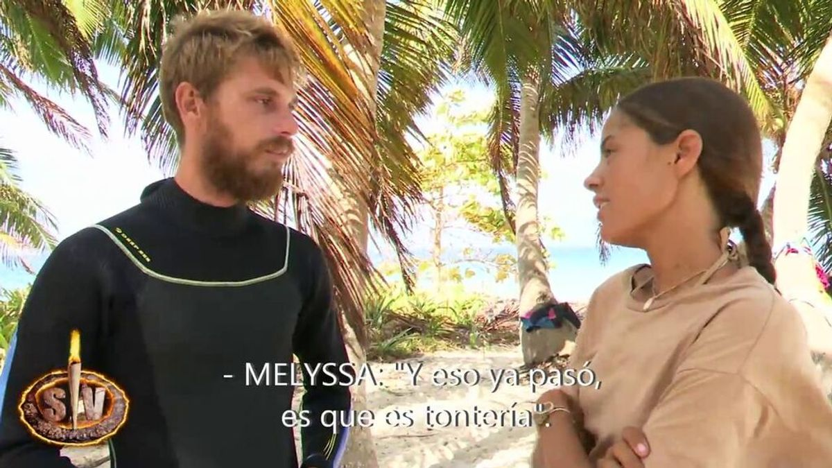 Las 5 fases que han atravesado Melyssa y Tom en 'Supervivientes' para llegar a ser amigos